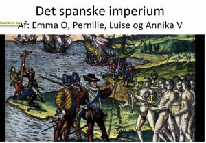 Screencast om det spanske imperium