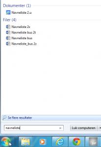 Screenshot - søgning